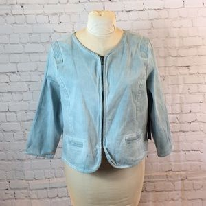 New Bandolino Pale Blue Dawn Short Jacket